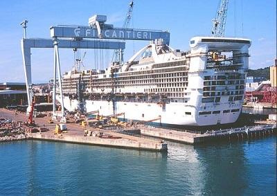 In costruzione nuove navi da crociera negli stabilimenti for Nuove planimetrie di costruzione