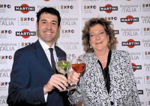 Giorgio Molinari, country manager Martini&Rossi con Diana Bracco