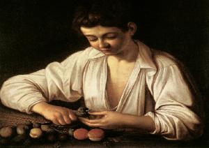 caravaggio-ragazzo-sbuccia-frutto-marcopolonews
