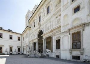Villa Medicis. Rome. Italie. 24 avril 2015. ©Patrick Tourneboeuf/Tendance Floue